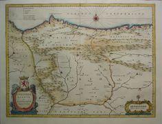 Mapa de Asturias y Cantabria del siglo XVII Vintage World Maps, Fantasy, Explore, Maps, Rpg, 17th Century, Messages, Fantasy Books, Fantasia