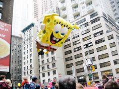 Spongebob - Macy's Thanksgiving Day Parade in New York City. #newyork #nyc #macy #parade #ballons #balloons #spongebob