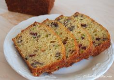 Recipe for zucchini bread with pineapple and craisins. Moist and delicious!