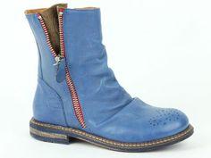 Rondinella korte laars 9696 blauw (maat 27-40) - Hippe Schoentjes