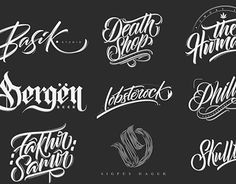 HAND LETTERING LOGOS 2017