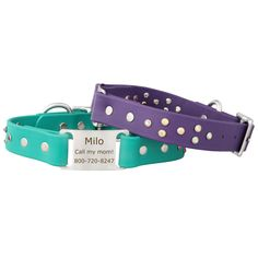 Need a waterproof collar for your diva dog? Our personalized Classic Jewel Series Collars include a jewel pattern on each side. Shop now! Made in the USA.