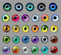 Fantasy eyes (downloadable stock) - 3 by Rittik-Designs on DeviantArt