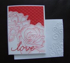 Stampin Up Handmade Valentine Card, All Occasion uses embossing folder