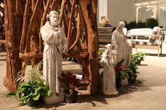 (Left to Right) Saint Francis Saint Anthony Mary Saint Francis, Flower Show, Chicago, Mary, Garden, Flowers, St Francis, Garten, Gardens