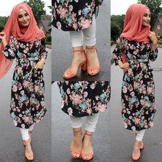 Muslim Women Fashion, Arab Fashion, Islamic Fashion, Hijab Outfit, Hijab Style Dress, Modesty Fashion, Fashion Outfits, Abaya Mode, Hijab Trends