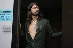 Dave Grohl with open shirt (drools)!