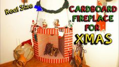 XMAS CRAFTS - easy CARDBOARD fireplace for christmas decor DIY - Mr. DIY Christmas Craft Projects, Diy Projects For Kids, Easy Christmas Crafts, Christmas Fun, Christmas Decorations, Diy Christmas Fireplace, Diy Fireplace, Fireplaces, Joy To The World