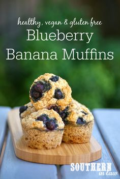 These Healthy Vegan Blueberry and Banana Muffins were a happy accident. They are seriously delicious and SO simple to make as well as healthy, gluten free, low fat, low sugar (and refined sugar free), and nut free. Freezer friendly and perfect for lunchboxes!