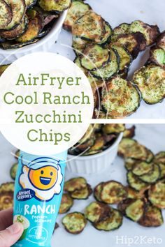You're going to want to make these delicious Air Fryer Ranch Zucchini Chips. You're going to want to make these delicious Air Fryer Ranch Zucchini Chips. Air Fryer Recipes Snacks, Air Fryer Recipes Vegetarian, Air Fryer Recipes Breakfast, Vegetable Recipes, Keto Snacks, Healthy Snacks, Air Fryer Recipes Vegetables, Snack Recipes, Healthy Eating