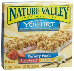 Nature Valley Chewy Yogurt Granola Bars, Variety Pack of Vanilla and Strawberry, 6-Count Boxes (Pack of 6) $20.96