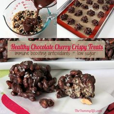 Move over Rice Krispie treats. These taste amazing and are better for you. High in antioxidants, low in sugar and calories, gluten free, easy no-bake, 15-min prep. | from The Yummy Life