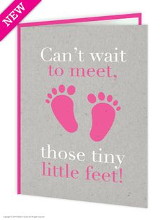 tiny little feet girl new baby card