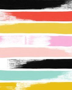 Brush Strokes 16 x 20 art print by shopampersand on Etsy