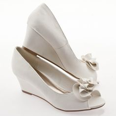 The Perfect Bridal Wedge Shoe by veiledbeauty on Etsy