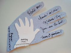 Look! A Hand-Traced (Grand)Mother's Day Card | Apartment Therapy