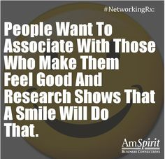 #NetworkingRx: How do you ensure you have a smile on your face?