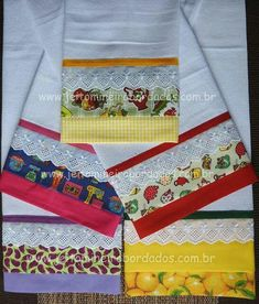 Dish Towels, Hand Towels, Tea Towels, Applique Towels, Embroidered Towels, Kitchen Linens, Kitchen Towels, Sewing Crafts, Sewing Projects