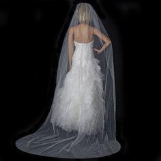 Single Layer Bridal Veil with Scattered Swarovski Crystals V 137 (NEW)