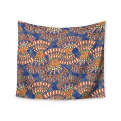 "Miranda Mol ""Energy"" Orange Blue Abstract Wall Tapestry from KESS InHouse"