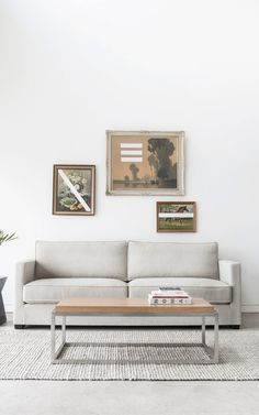 Swap the gallery wall for a smaller art vignette above your sofa for a refine…
