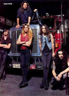 Skid Row kickin' back with a Peterbilt !!! How cool is that !!!!