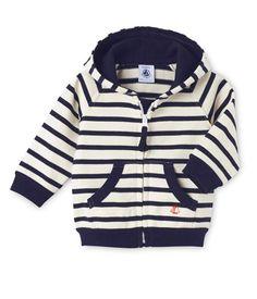 Sweat zippé bébé garçon en jersey lourd