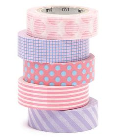 Take a look at this Five-Piece Bubble Gum Washi Tape Set on zulily today! Washi Tape Crafts, Washi Tape Set, Masking Tape, Projekt Mc2, Cute Stationary, Diy School Supplies, Decorative Tape, Duck Tape, Craft Materials