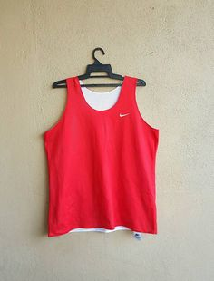 Vtg. NIKE Reversible Red   White Basketball Jersey Size XL (16-18) Made In  USA by alltrade1 on Etsy ca068724d