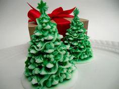 Christmas Tree Soap - christmas gift, stocking stuffer. $6.00, via Etsy.