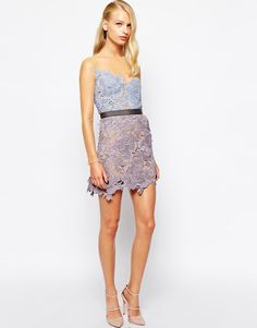 Image 4 of Self Portrait Harmony Lace Cutwork Dress With Mesh Sleeves