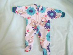"Doll Clothes Footed Sleeper Handmade Bears Flowers PJ 12"" 13"" Dolls | eBay"
