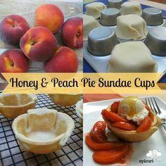 Honey and peach pie sundae cups! Yes please