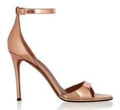 Givenchy Mirrored Rose Gold Leather Sandals