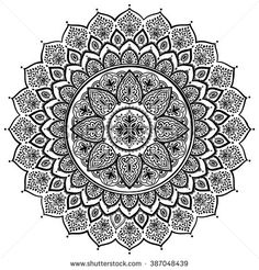 Find Beautiful Indian Floral Ornament Ethnic Mandala stock images in HD and millions of other royalty-free stock photos, illustrations and vectors in the Shutterstock collection. Mandala Pattern, Mandala Design, Pattern Art, Mandala Coloring Pages, Colouring Pages, Mandala Drawing, Mandala Art, Design Elements, Design Art