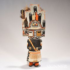 Hopi Polychrome Carved Wood Kachina Doll, represen - by Skinner