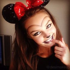 @vegas_nay (! Naomi ) 's Instagram photos | cute minnie mouse makeup