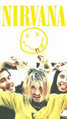 For everything Nirvana check out Iomoio Nirvana Logo, Nirvana Band, Nirvana Kurt Cobain, El Rock And Roll, Rock N Roll Music, Dave Grohl, I Love Music, Music Is Life, Kurt Cobain Photos