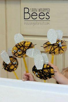 Manualidad infantil abejas                                                                                                                                                                                 Más