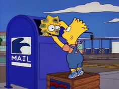 Funny humour pic the simpsons lisa bart in the post mail box: i want to go to paris (mw) Simpsons Simpsons, Simpsons Quotes, The Simpsons Tumblr, Playlists, Bart E Lisa, Los Simsons, Oui Oui, Futurama, Cultura Pop