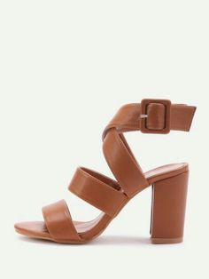 71adb3cb71 shein shoes · 26.02 thick strappy block heel sandals
