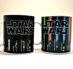 What's cooer than heat changing mugs? A Star Wars heat changing mug of course. When you pour your favorite hot beverage in it light sabers appear.