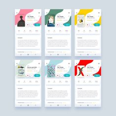 Water effect transitions and getting out cards in book app designed by Nikita Duhovny. Connect with them on Dribbble; Design Web, App Ui Design, Interface Design, Brochure Design, User Interface, Layout Design, Mobile App Design, Mobile App Ui, Mobiles Webdesign