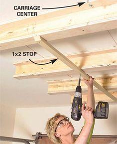 Sliding garage storage
