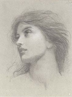 "Pre Raphaelite Art: (Sir) Francis Bernard Dicksee - Study for ""Chivalry"""