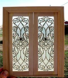 Dollhouse Miniature Stained Glass Doors