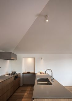 house in Hiyoshihoncho Yokohama Room Planning, Home Renovation, My Dream Home, Home And Living, Home Kitchens, Kitchen Dining, Sweet Home, New Homes, Ceiling Lights