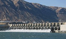 John Day Lock and Dam hydropower station in USA