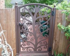 Tree of Life Gate: This design is so popular. It's organic, the look goes in any garden, it's inviting and beautiful.
