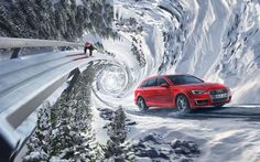 Full CGI Landscape for Audi Quattro Winter Campaign